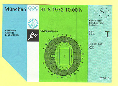 Orig.Ticket  Olympic Games MÜNCHEN 1972 - ATHLETIC 31.08. // 2 Final`s  !!  RARE