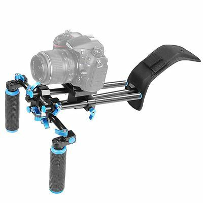NEEWER DSLR Shoulder Mount Support Rig Camera/Camcorder Mount Slider Stabilizer