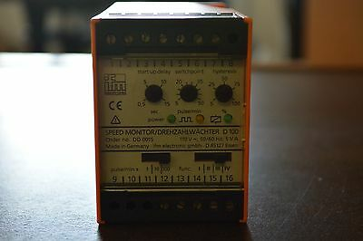 Ifm Electric Rotational Speed Monitor DD 0015, D 100 USED