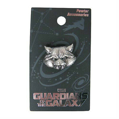 """GUARDIANS OF THE GALAXY """"ROCKET RACOON"""" Head Pewter Lapel pin Marvel Comics NEW"""