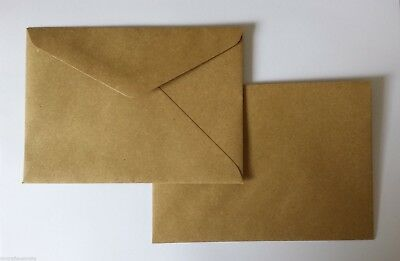 150 Envelopes 130mm x185mm BROWN KRAFT Quality fits 5 x 7 fits PHOTO 90GSM