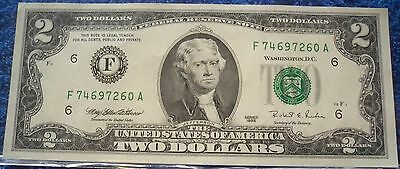 (LES18) USA $2 bank note UNC condition