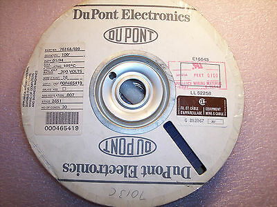 1 ROLL 100ft  76164-020 DUPONT 28AWG 20 COND FLAT CABLE STYLE 2651 NOS