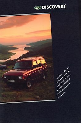Land Rover Discovery 1989 UK market sales brochure