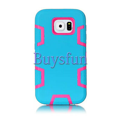 Covdo Blue Hot Pink Rugged Hard/Soft Shock Proof Case For Samsung Galaxy S6