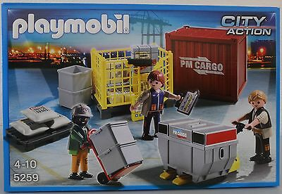 **NEU** PLAYMOBIL® CITY ACTION 5259 Cargo-Team mit Ladegut **OVP**