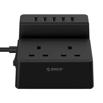 ExtraStar 4 Way Surge Protection 13A Fused UK Plug Extension Lead(1 Meter,Wh