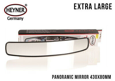 HEYNER premium PANORAMIC MIRROR wide angle 430 x 80mm CAR TRUCK BUS large size