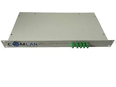 1x4 SC/APC Optical Splitter / Coupler - Rack Mount, 1310nm / 1550nm