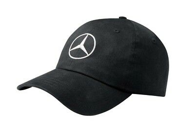 Genuine Mercedes-Benz Black Logo Adjustable Baseball Cap ZMB66956282 NEW