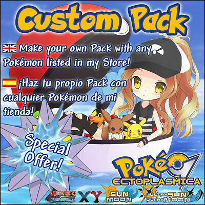 Custom Pack PKMN 6IV YOU CHOOSE  TU ELIGES 6IVs - Pokemon XY ORAS Sun Moon Guide