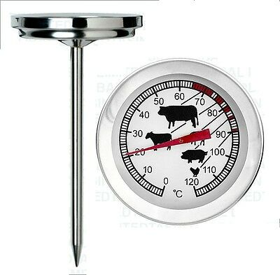 Kitchen Probe Thermometer Oven Meat Roasting Turkey Stainless Steel