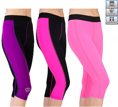 Womens Fitness Compression Leggings Yoga Pants Gym Ladies 3/4Trousers