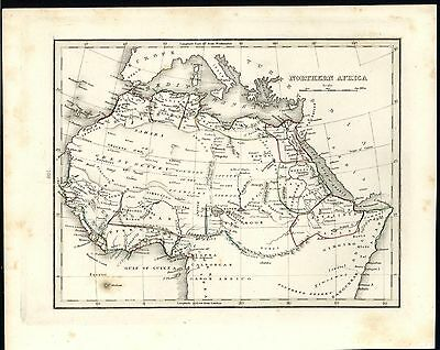 Northern Africa Mts. of Moon 1838 fine old vintage antique map
