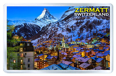 Zermatt Switzerland Fridge Magnet Souvenir Iman Nevera