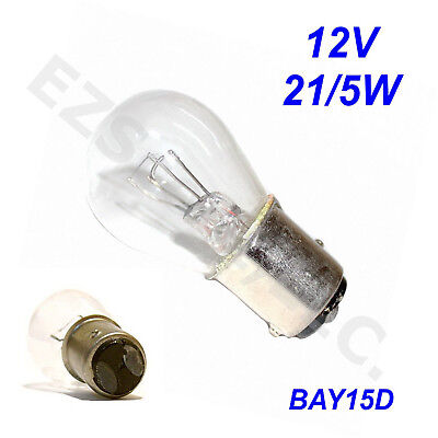 Pair Of Tail/ Brake Light Bulb Oem 12V 21/5W Gy6 Scooter Moped Taotao Peace Vip