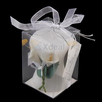 Calla Lily Elegance Vase Shaped Candle Wedding Bridal Shower Party Favor New