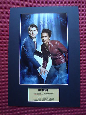 Freema Agyeman *dr Who* *martha Jones* Hand Signed A3 Mounted Photo Display- Coa
