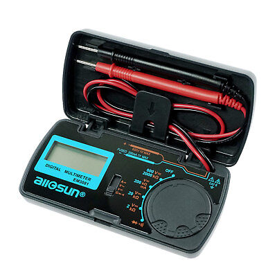 Mini Digital Multimeter LCD DMM Multi Tester Amp/Ohm Diode Continuity Folding
