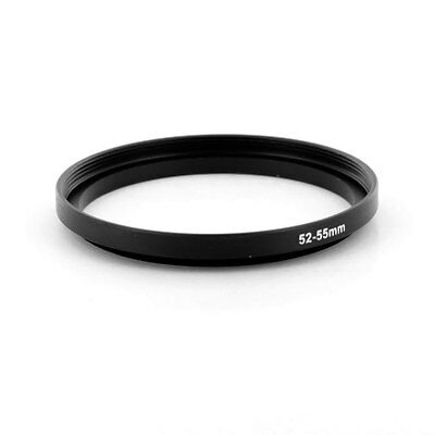 Filter Step Up Ring Adapter for 52mm to 55mm Black