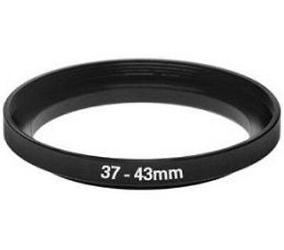 Filter Step Up Ring Adapter for 37mm to 43mm Black