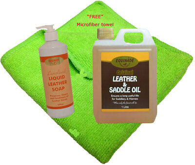 Leather Care Pack Equinade Leather Soap+Leather+Saddle Oil restoration boot hike