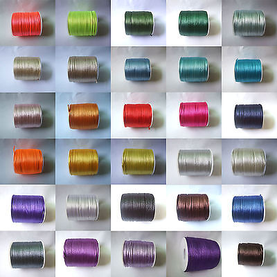 10M/50 Meters 2mm Rattail Satin Silk Cord Thread - Kumihimo And Macrame Crafts