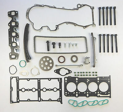 TIMING CHAIN KIT GEARS HEAD GASKET SET BOLTS 1.3 CDTi ASTRA CORSA MERIVA TIGRA