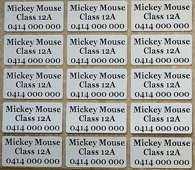 36 IRON ON Personalised Name Stickers Tag / Label for clothing, 3.0 X 1.5 CM