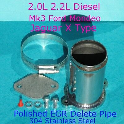 EGR Delete Kit Ford MK3 Mondeo Jaguar X Type 2.0 2.2 TDCi ST 2.2 Stainless Steel