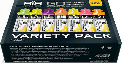 SiS Science In Sport Go Isotonic Energy Gel Variety Pack (60ml X 7)