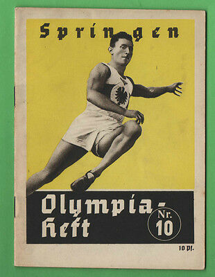 Orig.Guide / Extra PRG    XI.Olympic Games BERLIN 1936 - JUMPING  !!  VERY RARE