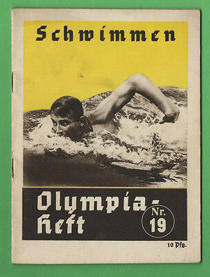 Orig.Guide / Extra PRG   XI.Olympic Games BERLIN 1936 - SWIMMING  !!  VERY RARE