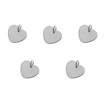 Silver 925 lovely puffed heart charm pendant ideal for branded bracelet