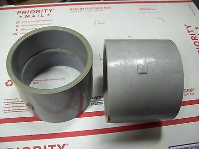 "LOT OF (4) 3-1/2""  PVC Coupling Conduit Fitting"