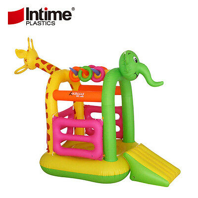 Kids Inflatable Elephant Bouncer House Jump Bouncer Jumping Bouncy Castle Slide