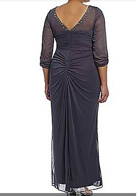 Mother of Bride Groom Women's Wedding beaded formal gown dress Gown plus L XL 1X