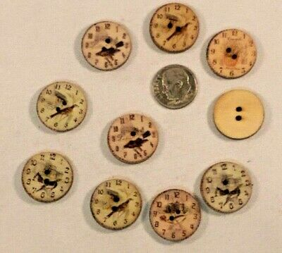 BOX86 Various Colours Available. 5 Wooden 20mm Tree of Life 2 Hole Buttons