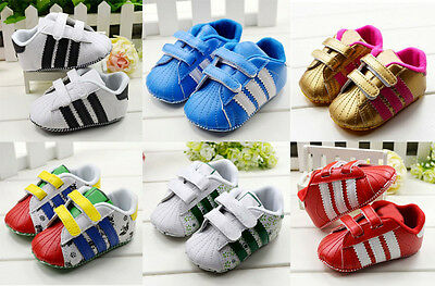 Infant Baby Boys Girls Crib Shoes Sneakers Size 0-6 6-12 12-18 Months