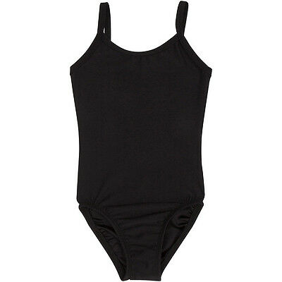 BLACK Camisole Leotard for Ballet and Gymnastics