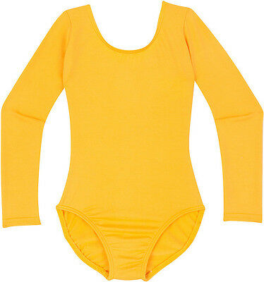 GOLD Girls Classic Long Sleeve Ballet Dance Leotard