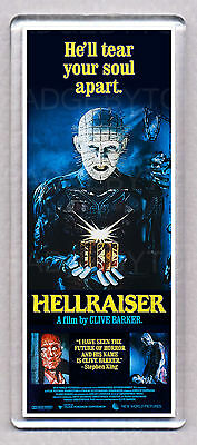 HELLRAISER movie poster LARGE 'WIDE' FRIDGE MAGNET - HORROR CLASSIC!