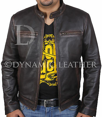 Contraband Mark Wahlberg's Mens Slim Fit REAL Leather Jacket