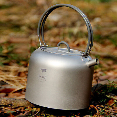 Keith Titanium Kettle Outdoor Camping Picnic Kettle Office Tea Pot Coffee Pot