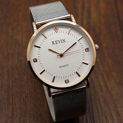 New Kevin Fashion Casual Quartz Watch Stainless Steel Mesh/ Leather Band Womens
