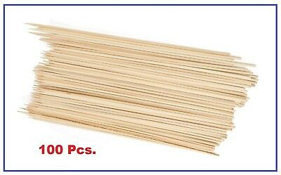 Thunder Group BAST010 Bamboo Skewer  10-Inch - 4 Bags of 100 (400 Total)
