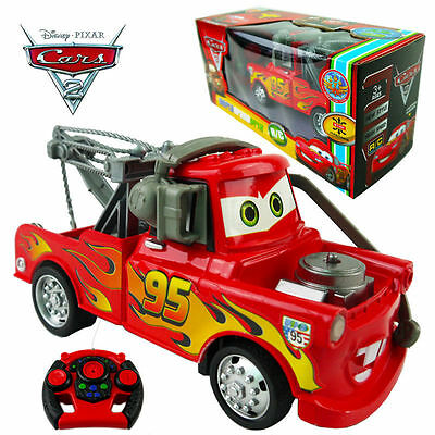 19Cm Disney Pixar Lightning Mcqueen Electric Rc Radio Remote Control Car Kid Toy