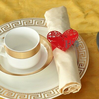24 pcs Red  Pigeon Wedding Paper Napkin Ring Party Decoration Bridal Shower