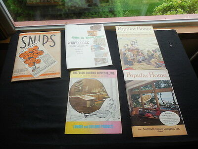 Lot 5 Vintage 1960s Construction Building Catalogs NJ Popular Home Snips JOurnal