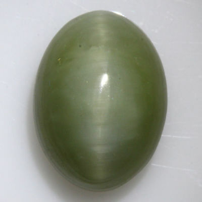 """8.855 Cts"""" VERY VERY RARE NATURAL RARE WOW GREEN QUARTZ CAT'S EYE OVAL CAB  !!!"""